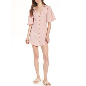 Topshop angel sleeve shift dress pink size 6